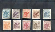 SPANISH SAHARA NE1-10(*) COMPLETE 1910 IMPERF SET OF TEN, VF, NGAI, SCARCE, $700