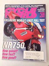 Cycle World Magazine Honda's NR750 Full Test August 1994 032017NONRH