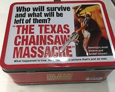 Texas Chainsaw Massacre Metal Lunch Box Tin Tote Brand New