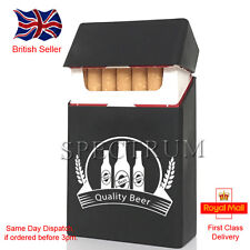 """Silicone Cigarette Case/Cover """"Quality Beer"""" Black (Same Day Dispatch)"""