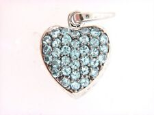 Swiss Blue Topaz Heart Pendant (FREE CHAIN)