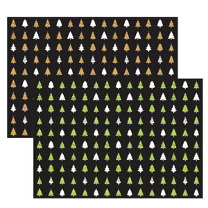 Unique High Quality Gold/Green Christmas Tree Gift Wrap Size-((297x420mm)