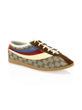 100% AUTHENTIC NEW MEN GUCCI  FALACER GG PRINT WITH WEB SNEAKERS UK 9/US 10 D