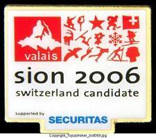OLYMPIC PIN BID CANDIDATE SION SWITZERLAND SECURITAS