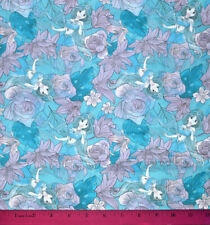 Princess Jasmine Fabric - HALF YARD - Quilting 100% Cotton Disney Aladdin Floral