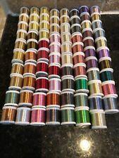 71 rolls of Prowrap Metallic Rod Builing Thread Size A 100 yard spools