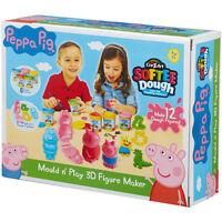 Peppa Pig Cra-Z-Art Softee Dough Mould 'n' Play 3D Figure Maker NEW