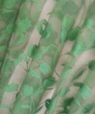 CIESSE tessuto stoffa tenda tulipani verdi DESIGN scampolo 440x300 cm organza