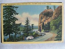 Gorge at Shepperd's Dell, Columbia River Hwy., Oregon Unused W/B Linen Postcard