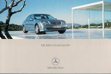 Mercedes-Benz E-Class Saloon 2002-03 UK Market Brochure 240 320 500 220 270 CDi