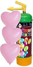 ELIO Balloons Fantasy Helium 0,11m³ Ballongas 1 Liter inkl 12 rosa Herzballons