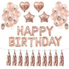 set Rose Gold Wedding Party Balloons Happy Birthday Decor Supplies Shiny kit
