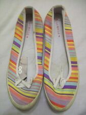 Canvas Slip On Multi-Coloured Trainers for Women