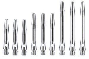 Silver Alloy Dart Stems - Extra Short, Short, or Medium - Choose Number of Sets