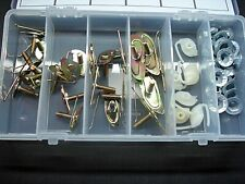 54 pcs door body side belt moulding trim clips & nuts exterior fasteners Fits GM