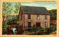VINTAGE POSTCARD - West Brester , MA The Old Discarded Mill on Cape Cod