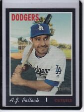 2019 Topps Heritage High Number Black Border A.J. Pollock 522 Dodgers
