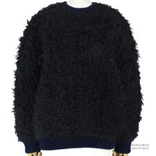 Stella McCartney Navy Blue Black Oversized Ultra-Fluffy Jumper Sweater IT40 UK8