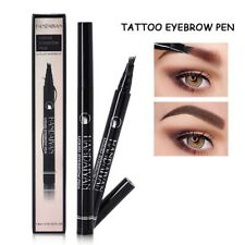 Waterproof 4 Fork Eyebrow Pen Pencil Eye Brow Eyeliner Natural Makeup Brown