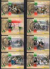 2011 Italia Repubblica Foglietti 150° Unità d'Italia I protagonisti usata