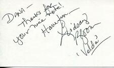 """LINDSAY BLOOM """"THE HAPPY HOOKER GOES HOLLYWOOD"""" ACTRESS SIGNED CARD AUTOGRAPH"""