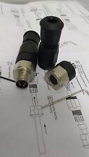 Conectores hembra y macho 4 pines para sensores, detectores, etc...