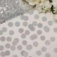 SILVER GLITTER TABLE CONFETTI - Weddings - Party - Hen - Baby Shower