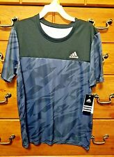 Adidas Boys black & blue shirt Size  L14/16, NWT retail $25