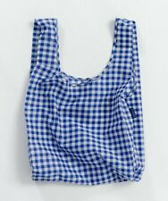 NWT Brand New BAGGU Standard Reusable Bag BLUE GINGHAM SOLD OUT EVERYWHERE
