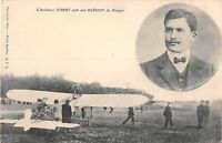 CPA AVIATION L'AVIATEUR GIBERT SORT SON BLERIOT DU HANGAR