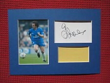 CHELSEA GIANFRANCO ZOLA GENUINE HAND SIGNED A4 MOUNTED CARD & PHOTO DISPLAY- COA