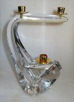 grand bougeoir desing en cristal signé Schneider à trois lumères - 1960
