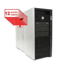 HP Z820 12-Monitor Multi Display 12-Core/ 24GB / 1TB+ 256GB SSD/ NVS 450/ Win10