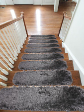 Fluffy Shipskin New Carpet Stair Treads NON-SLIP MACHINE WASHABLE Rugs,22x67cm