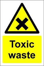 Toxic waste chemical warning Safety sign