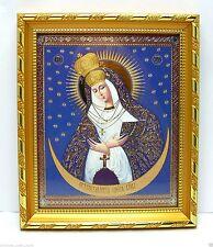 """Icon Mother of God of Ostra Brama Икона Богородица Остробрамcкая 8.3x7.1x0.6"""""""