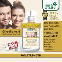 70% GLYCOLIC ACID Chemical Peel Kit Medical Grade 100% Pure! Acne-Scars-Wrinkles