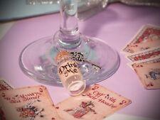 Alice In Wonderland Theme Drink Me wine charm Wedding,dinner,birthday, Hen Party