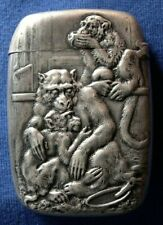 1045-Antique sterling silver match safe