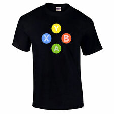 Xbox 360 Controller Buttons Symbols X Y B A Gaming Gamer Video Game S-5XL