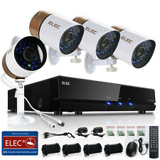 ELEC 8CH 1500TVL 960H DVR Outdoor CCTV 4Camera Home Surveillance Security System