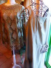 lot=femme  2piéces vert T44/46     robe et pull