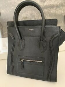 Immaculate Black Leather Celine Bag