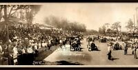 "1913 Corona Speedway, CA Vintage Panoramic Photograph 30"" Long Frame Not Include"
