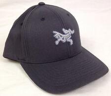 Arc'teryx Mens Embroidered Bird Cap Baseball Dark Grey One Size FlexFit 7978 NWT