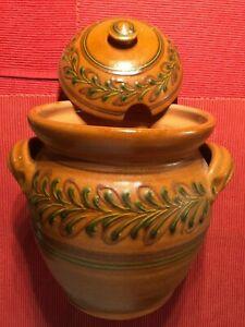 (be) - v. Hoesslin - große Schüssel mit Deckel - Keramik - handgemacht - TOP
