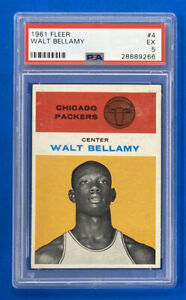 1961-62 Fleer Basketball #4 Walt Bellamy Rookie Card RC PSA 5 EX