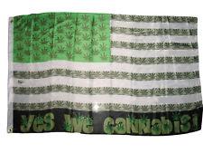 3x5 Yes We Cannabis Weed Marijuana Blunt USA Premium Flag 3x5ft House Banner
