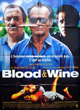 BLOOD AND WINE 1997 Jack Nicholson, Michael Caine, Jennifer Lopez  FRENCH POSTER