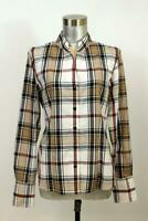 ORVIS Womens Multi Color Plaid Button-Up Shirt Top Blouse Casual Cotton M 10